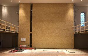 Rohkonstruktion Altarwand